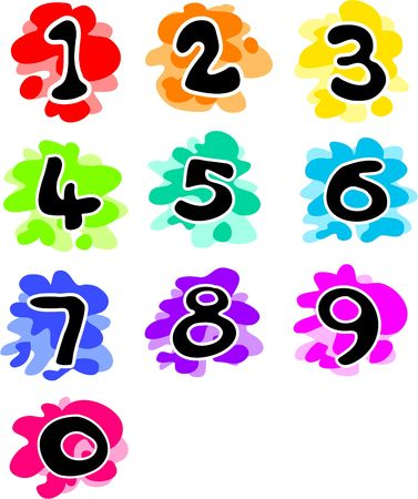 funky numbers Stock Photo - 244658