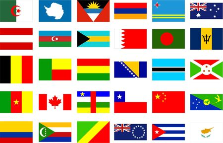 national identity: world flags - collection 1