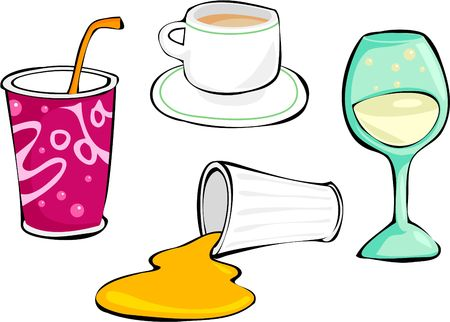 coffee spill: drinks collection Stock Photo