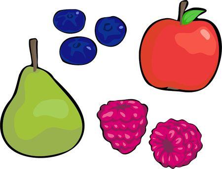 edibles: frutta raccolta Archivio Fotografico