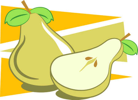 halved: pears Stock Photo