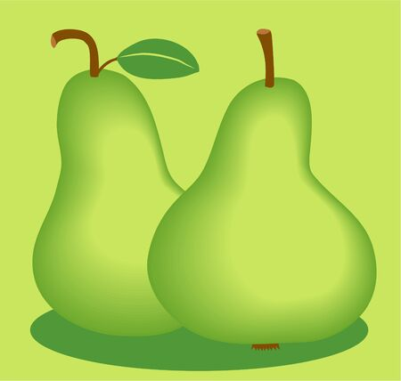 edibles: a pair of pears