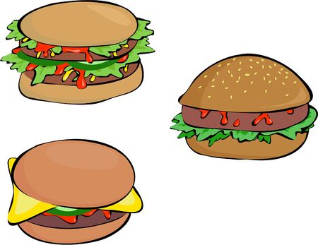 edibles: selection of burgers