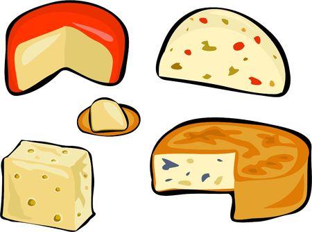 cheeses: cheeses Stock Photo