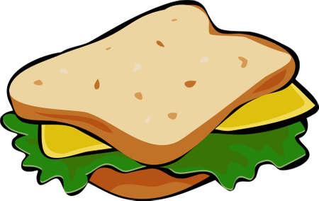 sándwich de ensalada  Foto de archivo - 244554
