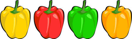 peppers: coloured peppers