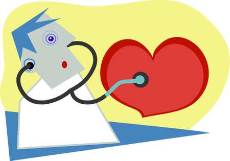 gp: heart examination Stock Photo