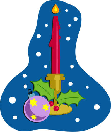 Christmas candle Stock Photo - 244434