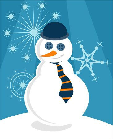 posh snowman photo