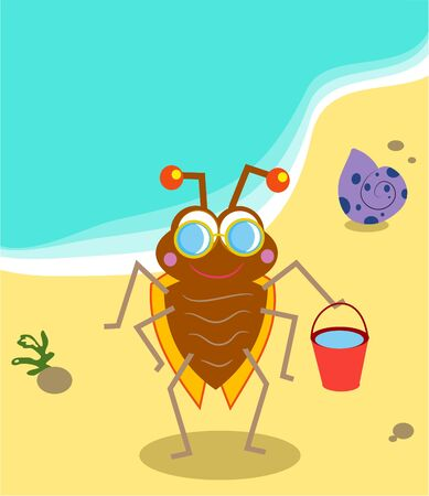 beach bug Stock Photo - 244414
