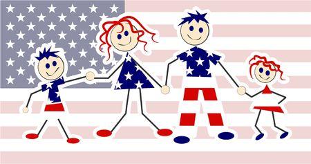 patriotic family usa photo