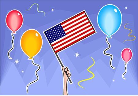 waving the flag - usa Stock Photo - 244364