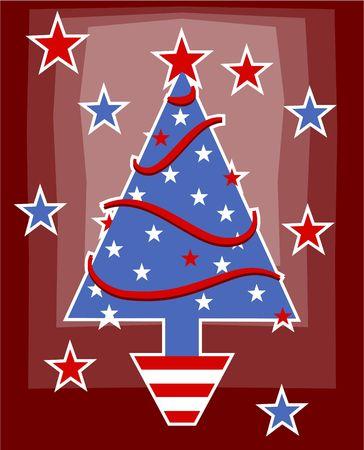 patriotic American Christmas tree