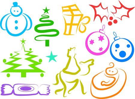 Christmas icons Stock Photo - 245045