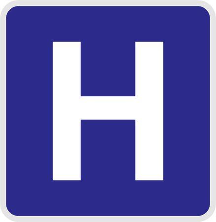 hospital sign: hospital sign