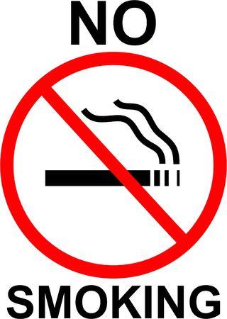 prohibido fumar: signo de no fumar