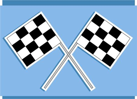 race track: race track flags Stock Photo