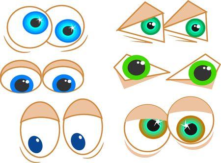 wacky: cartoon eyes