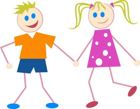siblings: children Stock Photo