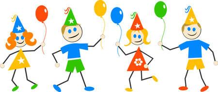 celebrate life: party kids Stock Photo