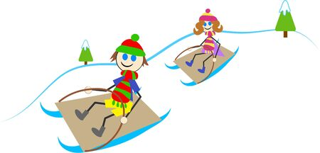 sledging people: sledging kids