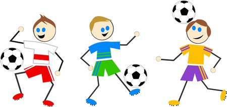 kids football: soccer kids Stock Photo