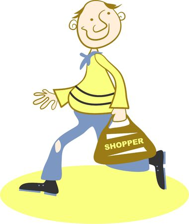shopping man: shopping man Stock Photo