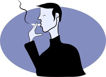 cigaret: man smoking