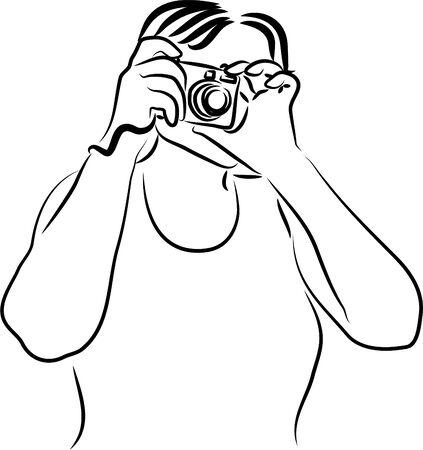 taking: woman taking photograph