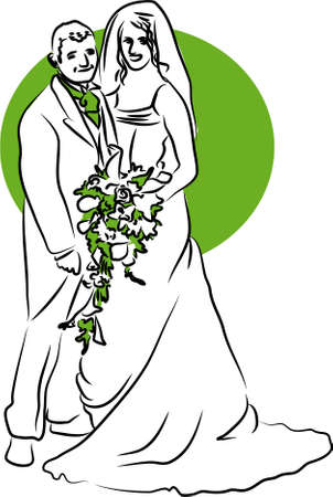 vows: bride and groom