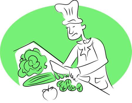 edibles: organici chef Archivio Fotografico