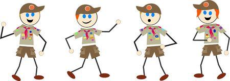 scouts: boy scout kids Stock Photo