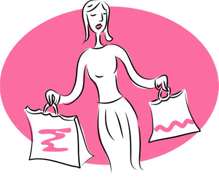 busy life: shopping woman