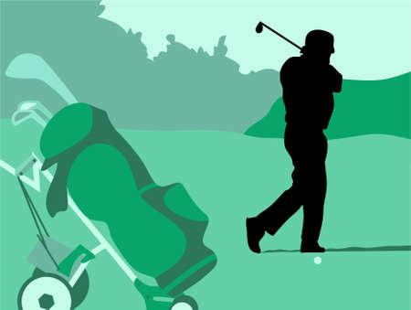 caddy: golf swing