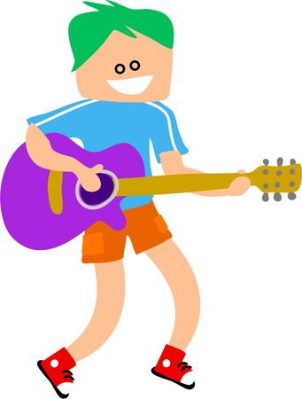 boy playing guitar: guitar boy