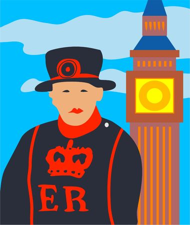 beefeater: London beefeater and big ben