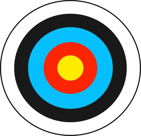 bullseye: archery target