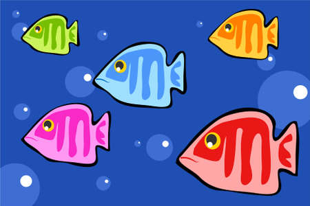 bold and colourful fish design photo