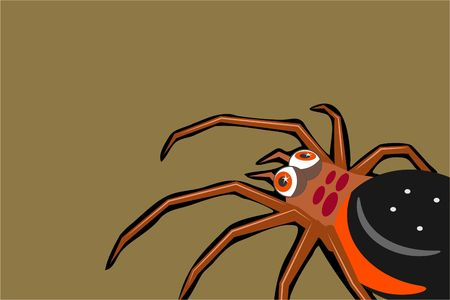 scary spider background