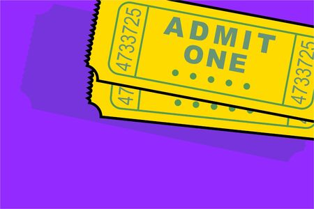one item: admittance tickets Stock Photo