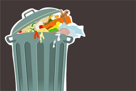 spoil: trashcan