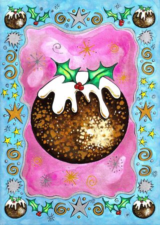 Christmas pudding design photo