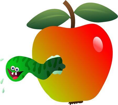 maggot: maggot apple