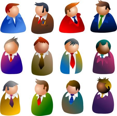 executive icons Stock Photo - 261497