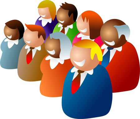 diverse group: happy and diverse business team Stock Photo