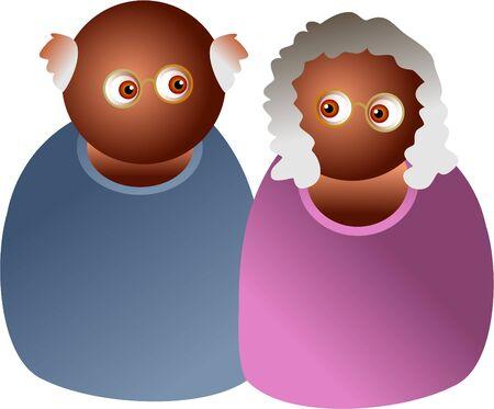 oap: elderly couple Stock Photo