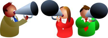 grownup: megaphone people