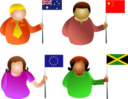 jamaican man: flag people Stock Photo