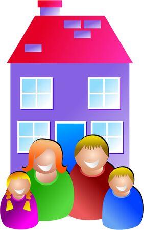 l boy: family home Stock Photo