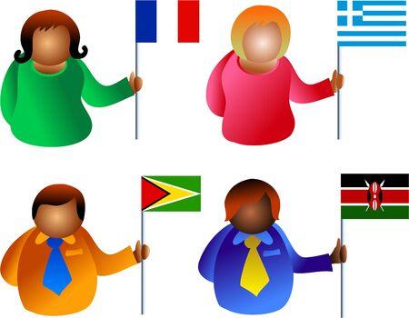identidad cultural: bandera de las personas  Foto de archivo